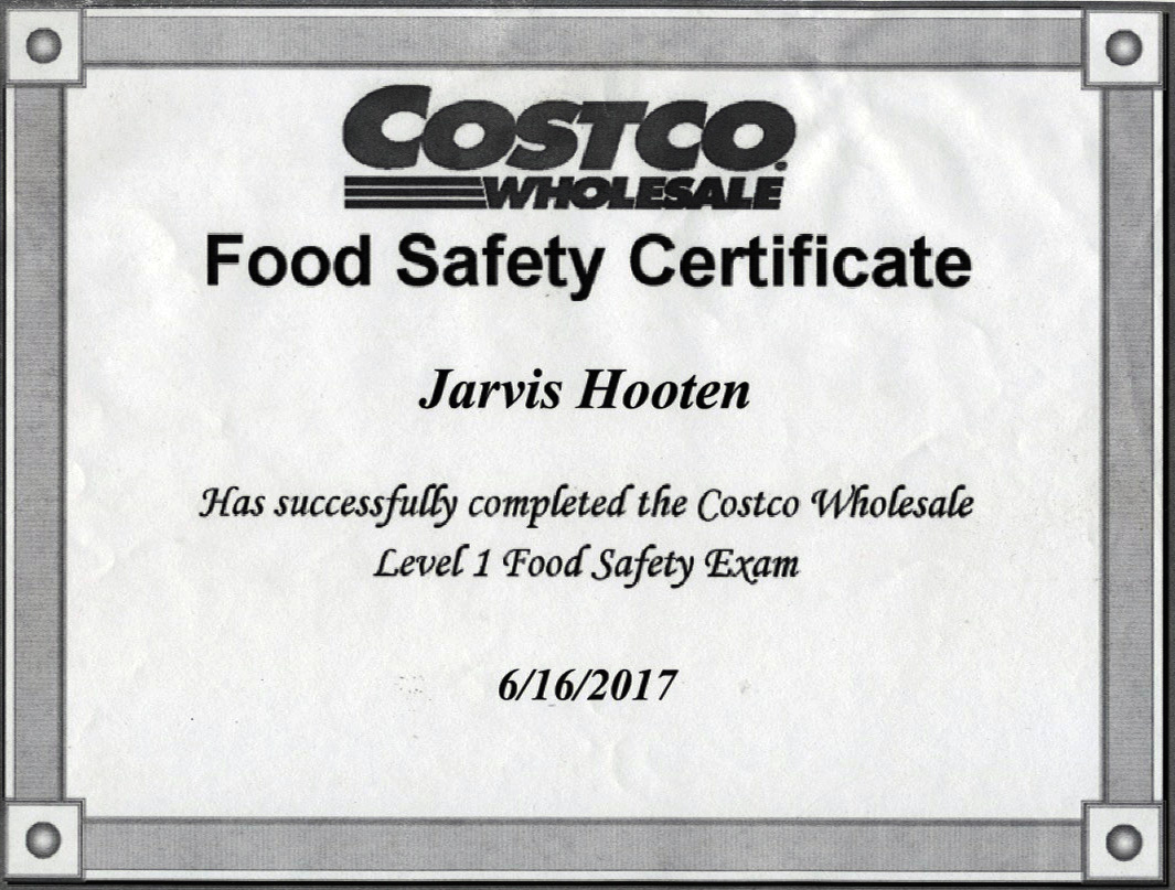 Tropic hut permits licenses servsafe certification costco food safety certificate jarvis hooten xflitez Image collections